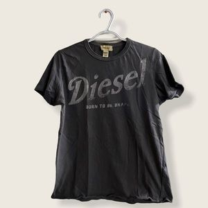 Diesel Gray Crewneck Shirt Medium Size